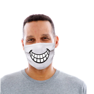 Adult Cotton Protective Mask with Toothy Grin