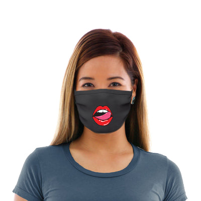 Adult Cotton Protective Mask with Sexy Lips