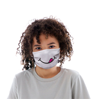 Kids Cotton Protective Mask with Licking Smile