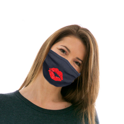 Adult Cotton Protective Mask with Kissy Lips