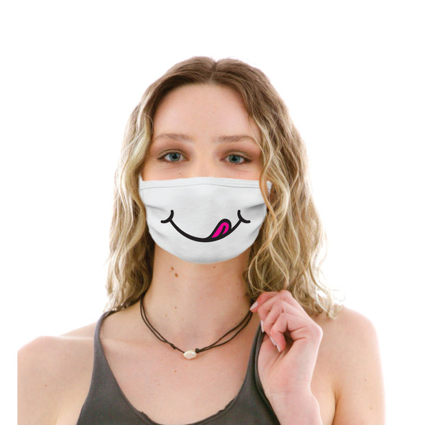 Adult Cotton Protective Mask with Licking Smile