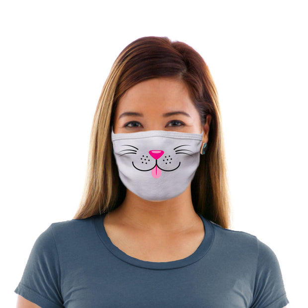 Adult Cotton Protective Mask with Cat Face