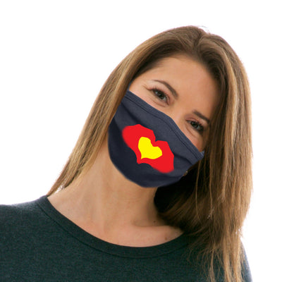 Adult Cotton Protective Mask with Heartbeat