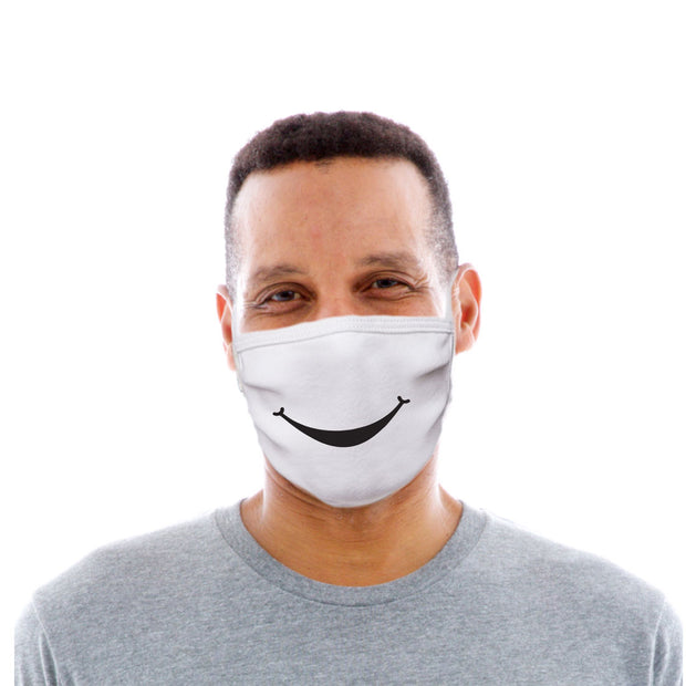 Adult Cotton Protective Mask with Simple Smile