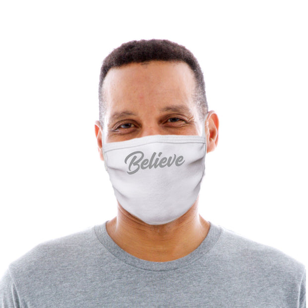 Adult Cotton Protective Mask with Believe