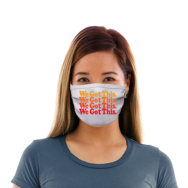 Adult Cotton Protective Mask with We Got This