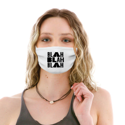 Adult Cotton Protective Mask with Blah, Blah, Blah