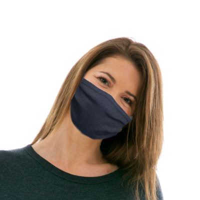 Adult Cotton Protective Mask in Plain Black