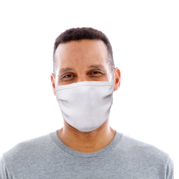 Adult Cotton Protective Mask in Plain White