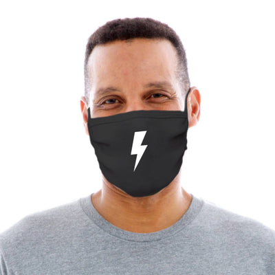 Lightening Bolt Adult Cotton Protective Mask