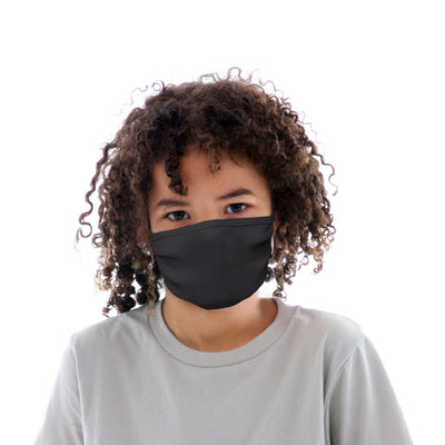 Kids Cotton Protective Mask in Plain Black
