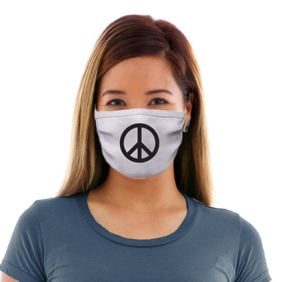 Peace Symbol Adult Cotton Protective Mask
