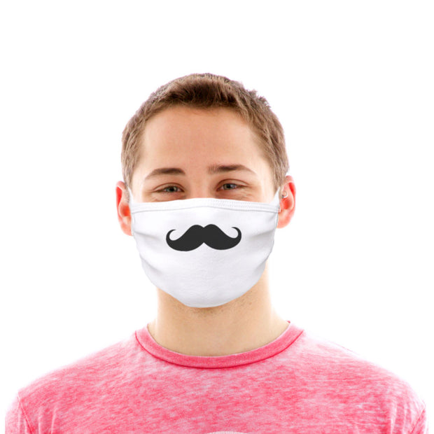 Adult Cotton Protective Mask with Moustache
