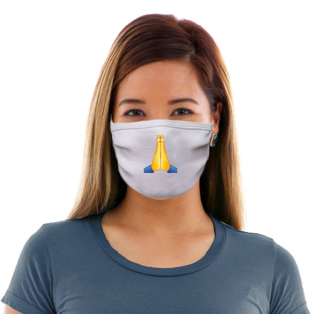 Thankful Emoji Adult Cotton Protective Mask