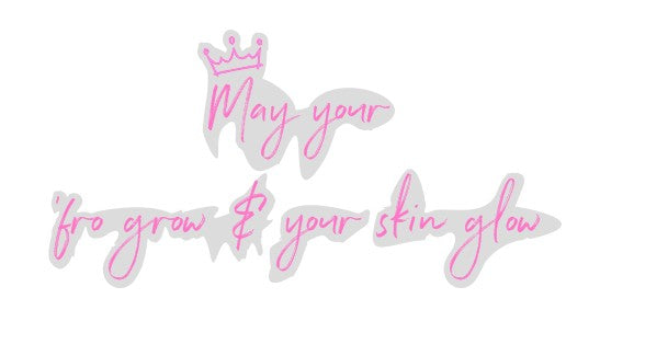 May your 'fro grow and your skin glow Custom Neon Sign 150cm AD