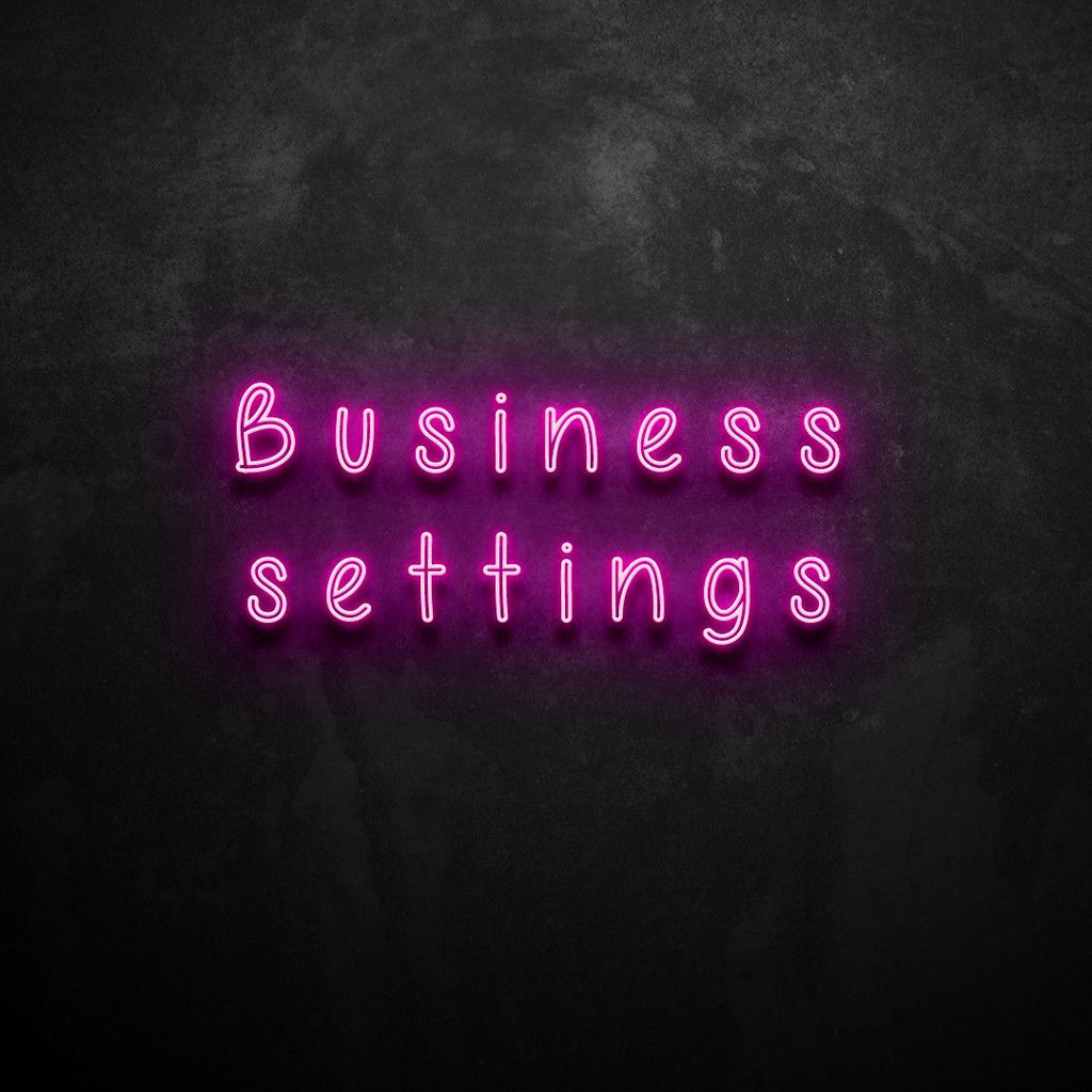 Business Settings Neon Sign VERVE HOUSE