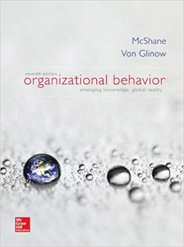 Organizational Behavior 7th 7E Steven Mcshane