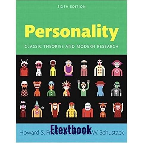 Personality; Classic Theories and Modern Research 6th