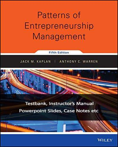 Patterns of Entrepreneurship Management (5th Edition)