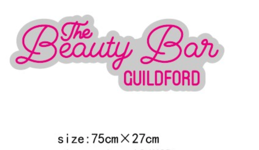 The Beauty Bar Guildford Custom Sign 75cm [1313]