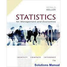 Statistics for Management and Economics 11th