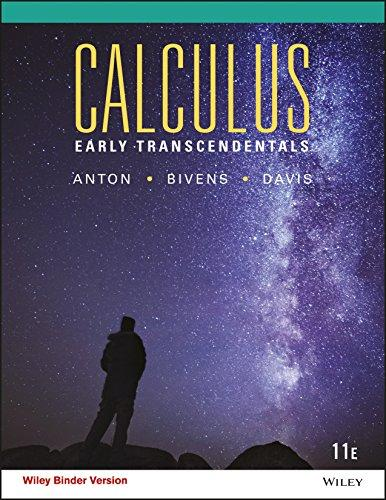 Calculus Early Transcendentals (11th edition)