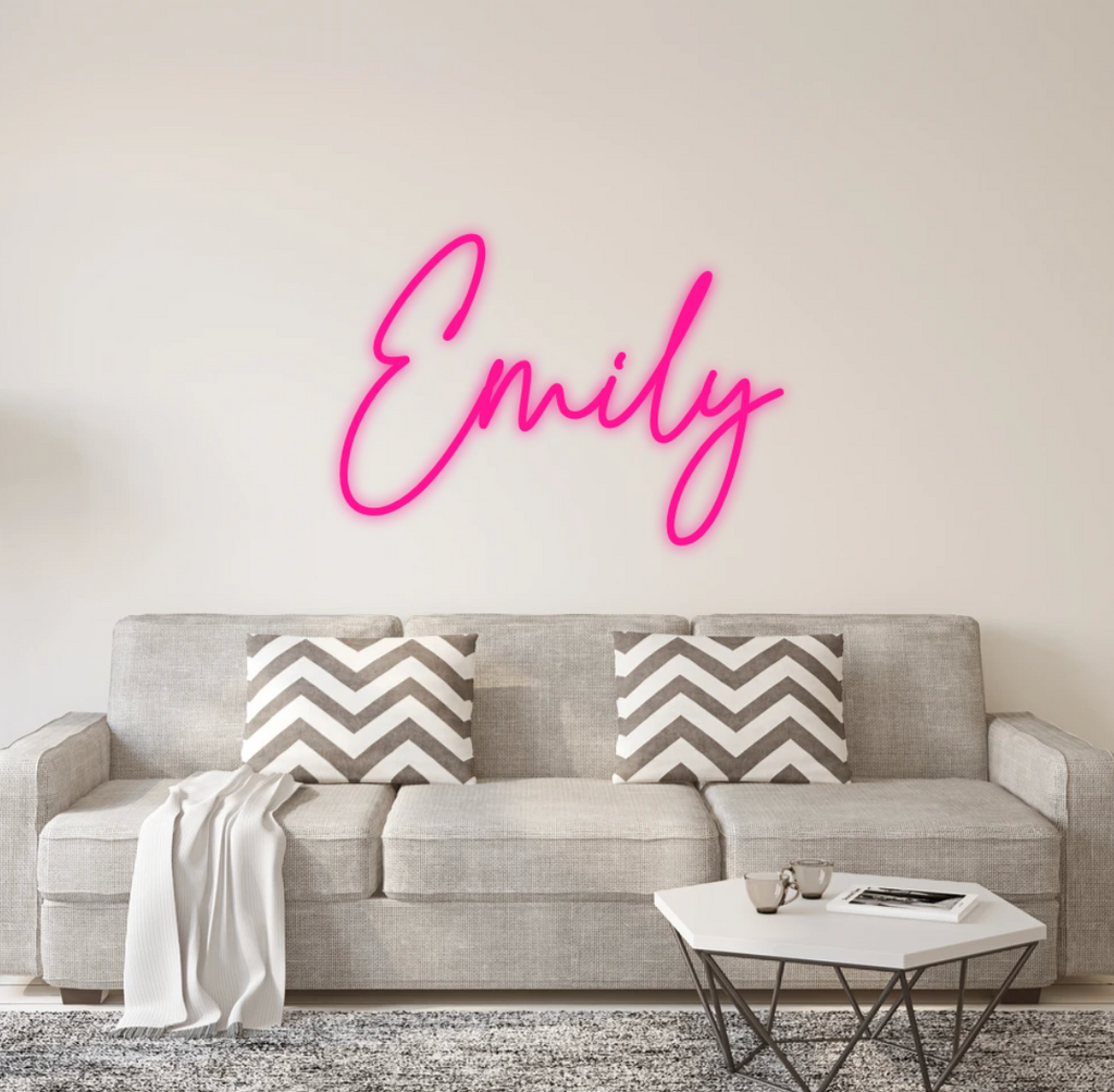 Emily Custom Neon Sign + Rush Order [1187] AD