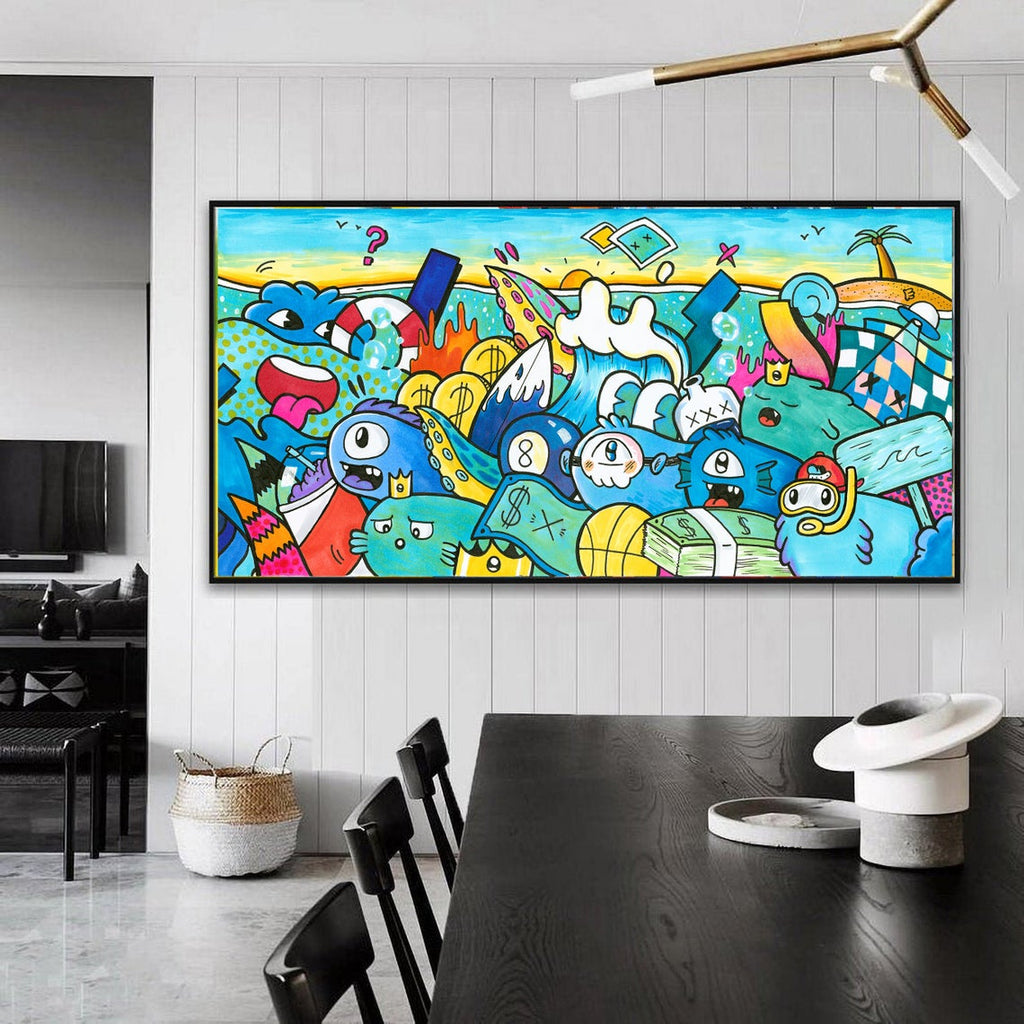 Pop Art Oversized Canvas Art