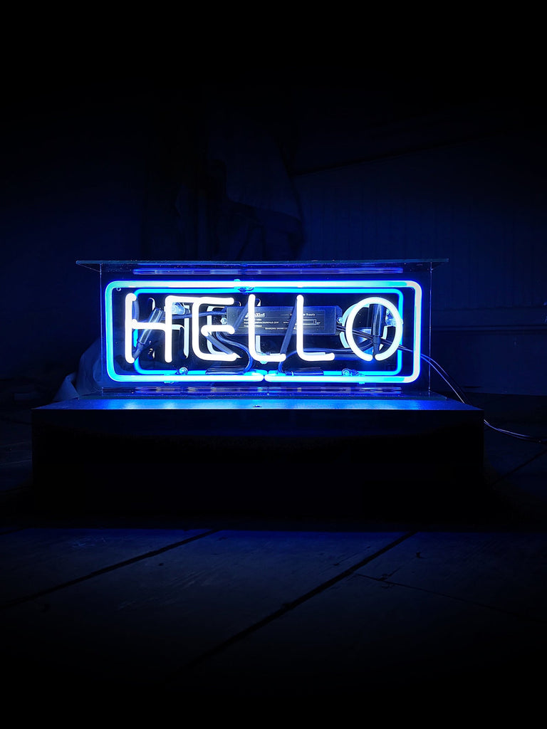 Hello Neon Light Box Sign