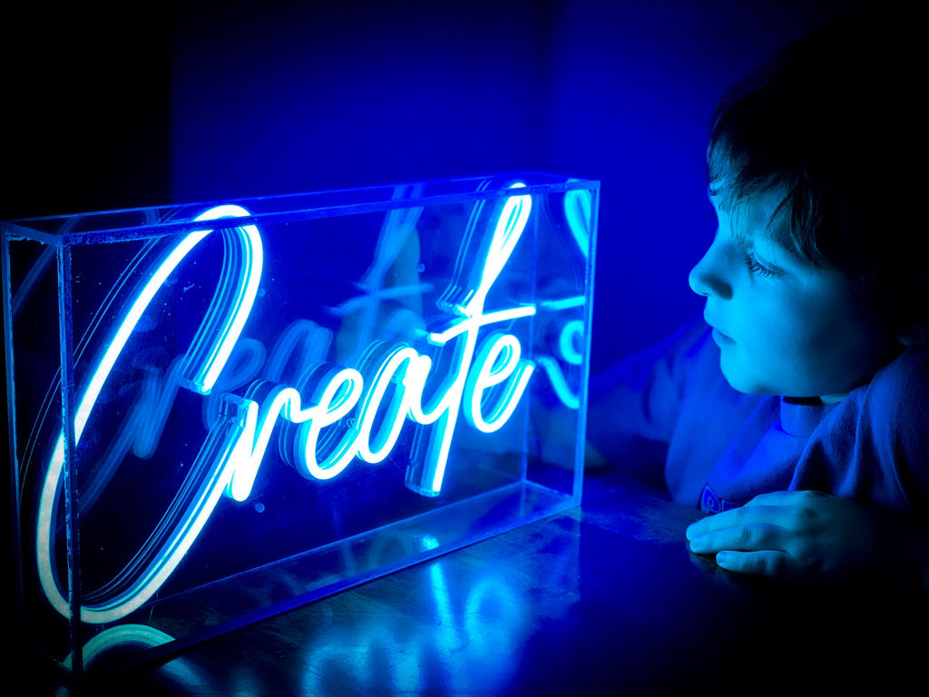 Create Neon Light Box Sign