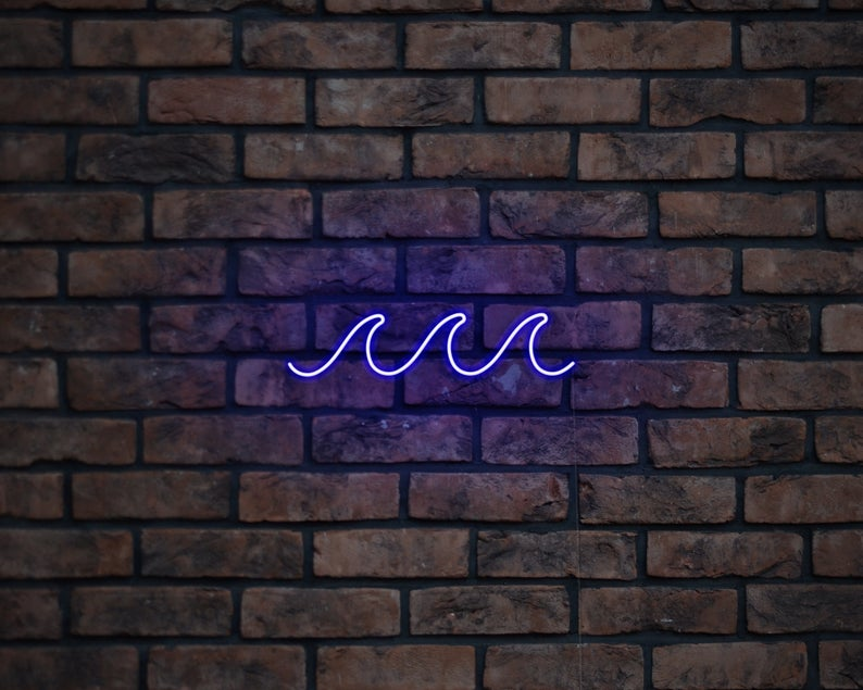Waves Neon Sign