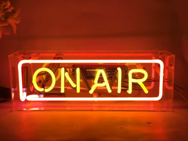 On Air Neon Light Box Sign