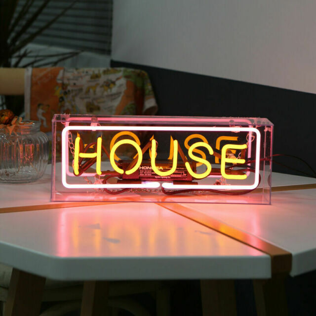 House Neon Light Box Sign