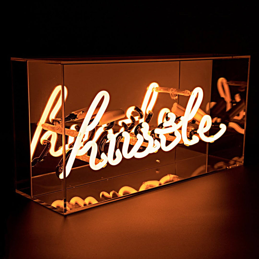 Hustle Neon Light Box Sign