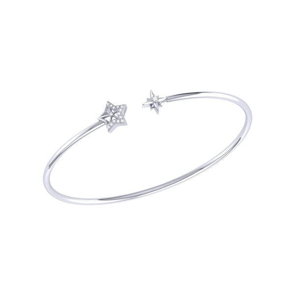 Starry Night Adjustable Diamond Cuff in Sterling Silver