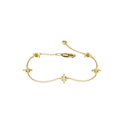 Starry Lane Diamond Bracelet in 14K Yellow Gold Vermeil on Sterling Silver