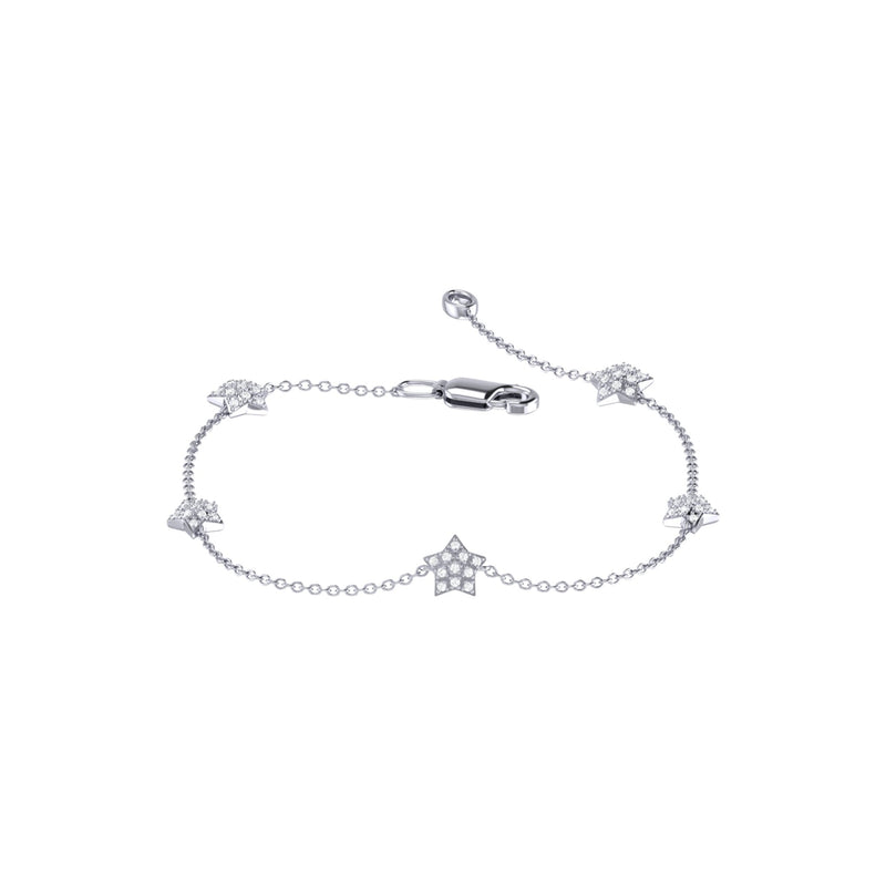Starkissed Diamond Bracelet in Sterling Silver
