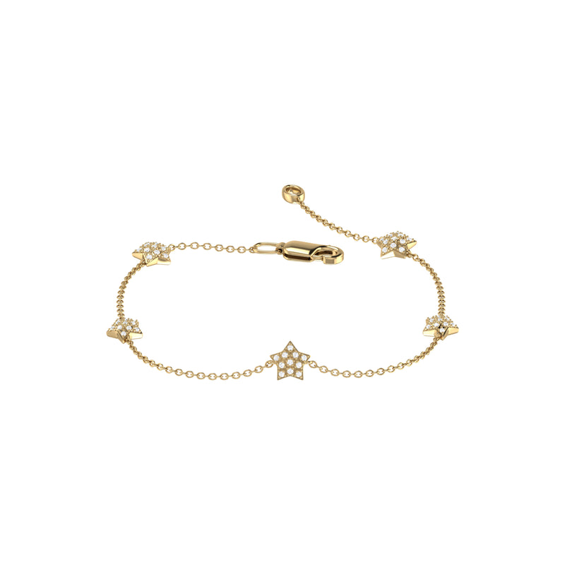 Starkissed Diamond Bracelet in 14K Yellow Gold Vermeil on Sterling Silver