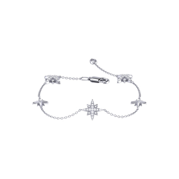 Starry Lane North Star Diamond Bracelet in Sterling Silver