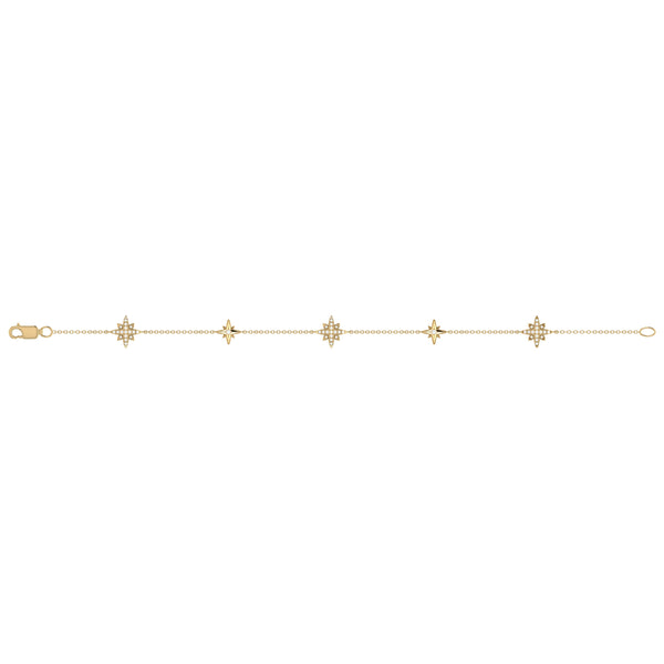 Starry Lane North Star Diamond Bracelet in 14K Yellow Gold Vermeil on Sterling Silver