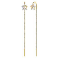Lucky Star Tack-In Diamond Earrings in 14K Yellow Gold Vermeil on Sterling Silver