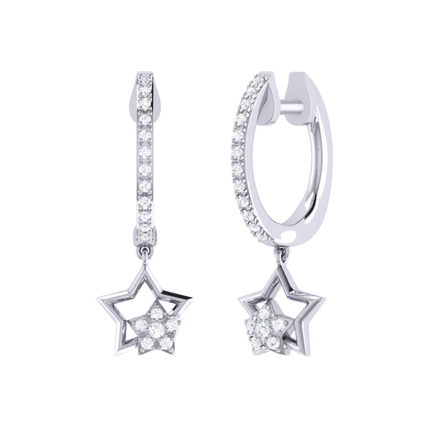 Starkissed Duo Diamond Hoop Earrings in Sterling Silver
