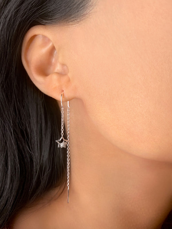 Starkissed Duo Tack-In Diamond Earrings in Sterling Silver