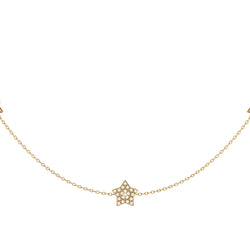 Lucky Star Layered Diamond Necklace in 14K Yellow Gold Vermeil on Sterling Silver
