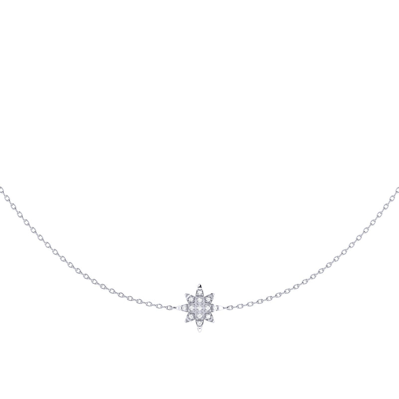 Starry Lane Layered Diamond Necklace in Sterling Silver