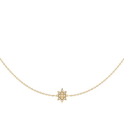 Starry Lane Layered Diamond Necklace in 14K Yellow Gold Vermeil on Sterling Silver