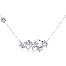 Starburst Constellation Diamond Necklace in Sterling Silver