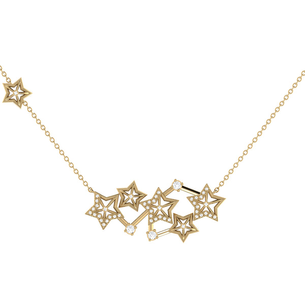 Starburst Constellation Diamond Necklace in 14K Yellow Gold Vermeil on Sterling Silver