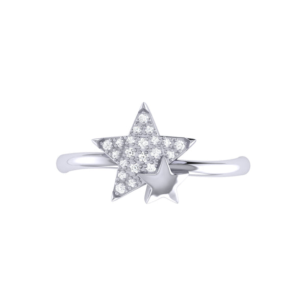 Dazzling Starkissed Duo Diamond Ring in Sterling Silver
