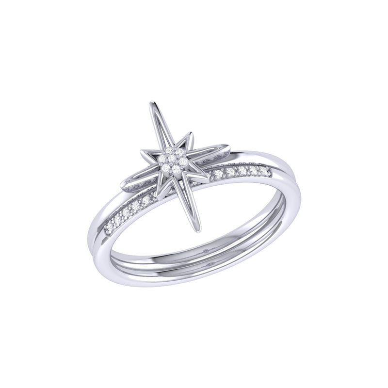 North Star Detachable Diamond Ring in Sterling Silver